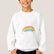 Sweet Patterned Rainbow Sweatshirt