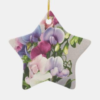 Sweet Pea 1907 Ceramic Ornament