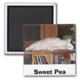 Sweet Pea 2 Inch Square Magnet