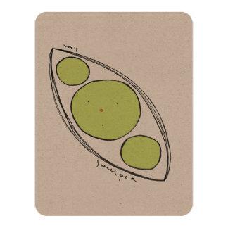 sweet pea 4.25x5.5 paper invitation card