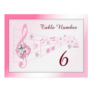 Sweet Pea and Music Table Number Card