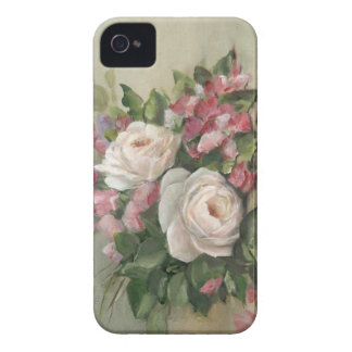 Sweet Pea and Rose Bouquet iPhone 4 Case-Mate Cases