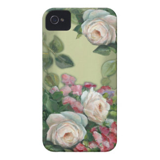 Sweet Pea and Rose Bouquet Case-Mate iPhone 4 Cases