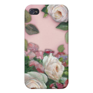 Sweet Pea and Rose Bouquet Cases For iPhone 4