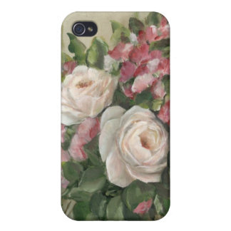Sweet Pea and Rose Bouquet Covers For iPhone 4