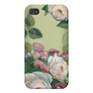 Sweet Pea and Rose Bouquet iPhone 4/4S Case