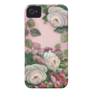 Sweet Pea and Rose Bouquet iPhone 4 Case-Mate Case