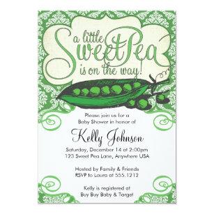 Sweet Pea Invitations Announcements Zazzle