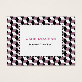Sweet Pea, Black & White 3D Cubes Pattern Business Card