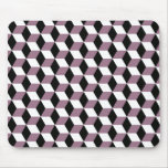 Sweet Pea, Black & White 3D Cubes Pattern Mouse Pad