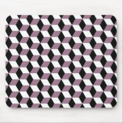 Sweet Pea, Black &amp; White 3D Cubes Pattern Mouse Pad (<em>$14.90</em>)