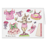 Sweet Pea Blank paper doll  Card