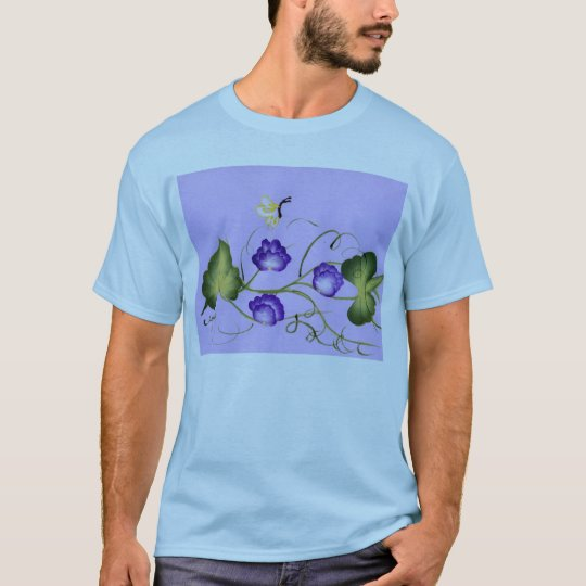 Sweet Pea Blossom and Butterfly T-Shirt