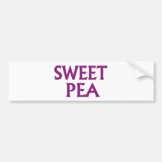 Sweet Pea Bumper Sticker