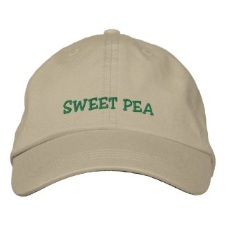 Sweet Pea cap embroideredhat