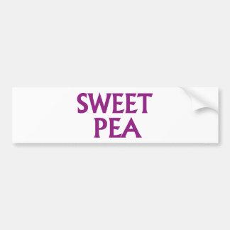 Sweet Pea Car Bumper Sticker