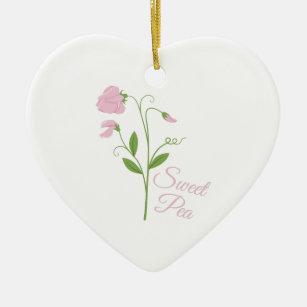 Sweet Pea Ceramic Ornament