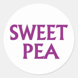 Sweet Pea Classic Round Sticker