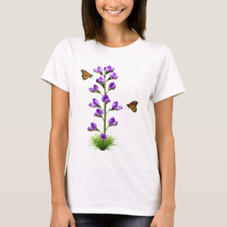 Sweet Pea Fantasy with Butterflies T-Shirt