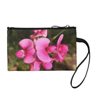 sweet pea flower macro change purse