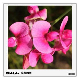 sweet pea flower macro wall sticker