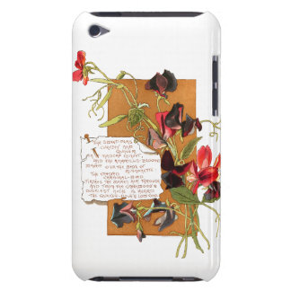 Sweet Pea Flowers Bermuda Island Floral Poem iPod Case-Mate Case