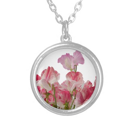 Sweet Pea Flowers Necklace