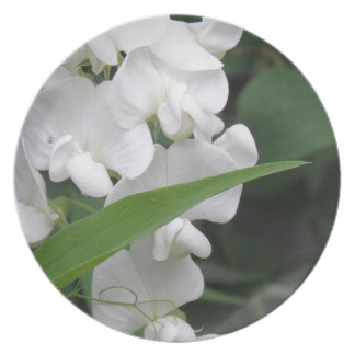 Sweet Pea Flowers Plate