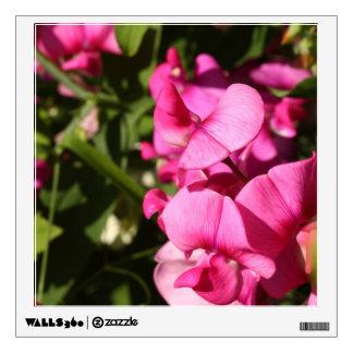 sweet pea flowers wall decal