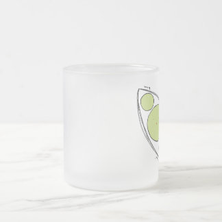 sweet pea frosted glass coffee mug
