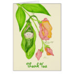 Sweet Pea Girl Thank You Notecard Cards
