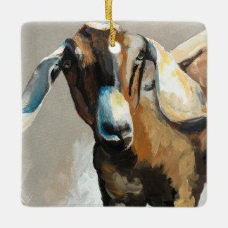 Sweet Pea Goat Farmhouse Christmas Ornament