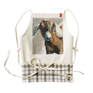Sweet Pea Goat Farmhouse Zazzle Apron