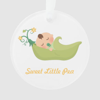 Sweet Pea in a Pod Baby Boy Nursery Room Decor Ornament