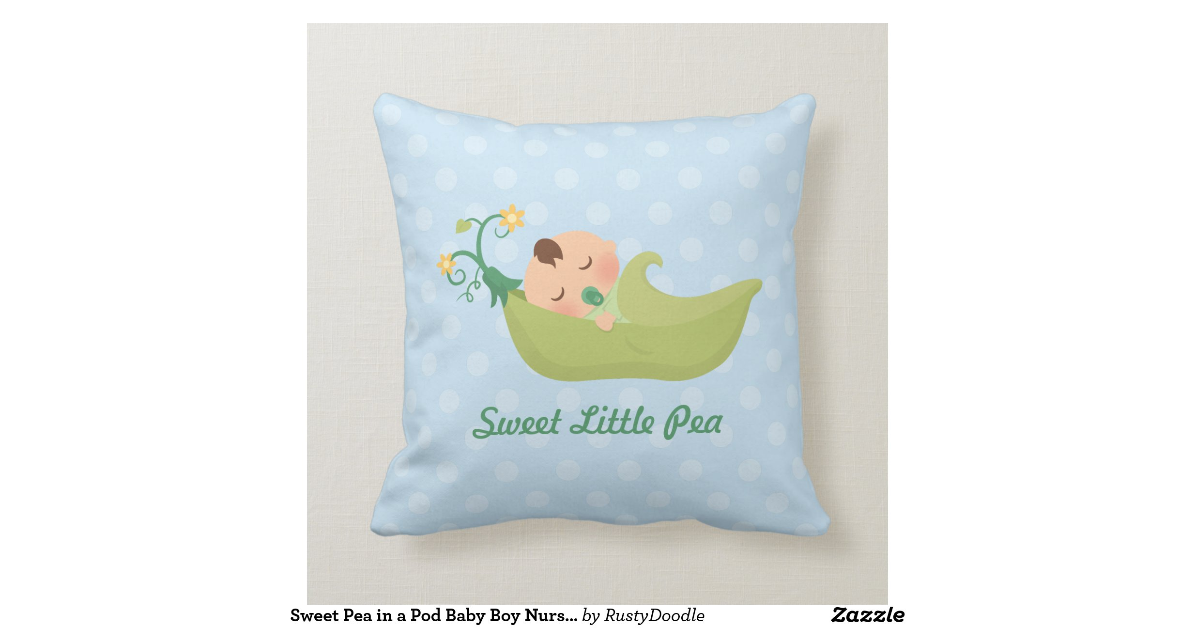 Sweet Pea in a Pod Baby Boy Nursery Room Decor Pillows Zazzle