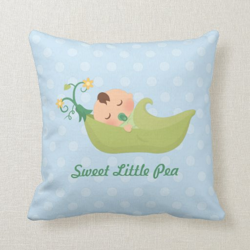 Sweet Pea in a Pod Baby Boy Nursery Room Decor Throw Pillow Zazzle