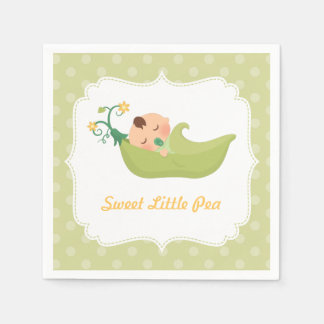 Sweet Pea in a Pod Boy Baby Shower Party Supplies Paper Napkin