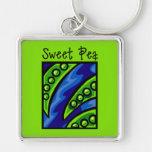 Sweet Pea Keychain