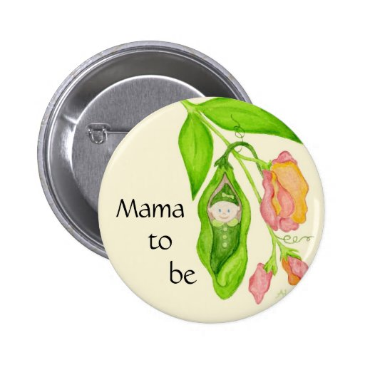 Sweet Pea Mama to Be button