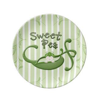 Sweet Pea Porcelain Plates