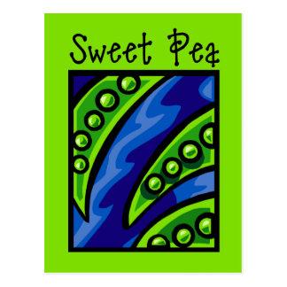 Sweet Pea Postcard