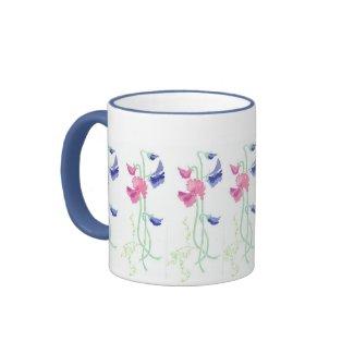 Sweet Pea Ringer Mug mug