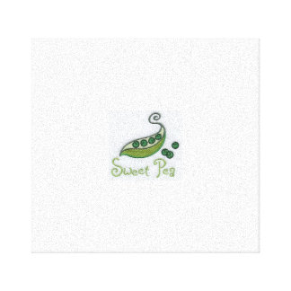 sweet pea sign canvas print