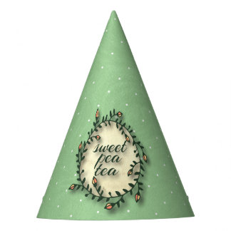 Sweet Pea Tea Birthday –Green Polka-Dot Party Hat