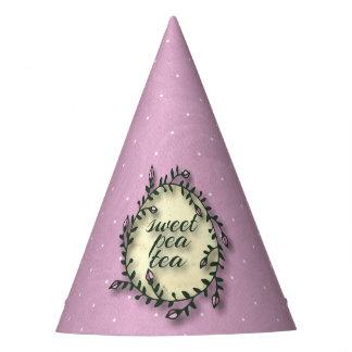 Sweet Pea Tea Birthday –Pink Polka-Dot Party Hat