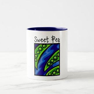 Sweet Pea Two-Tone Coffee Mug