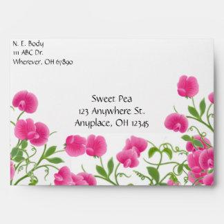 Sweet Pea Vines Envelope