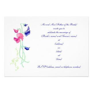 Sweet Pea Wedding Invitation