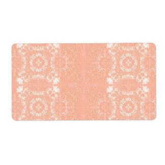 Sweet Peach Muted Vintage Lace Theme Label