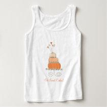 Sweet Peach Whimsical Wedding Cake Custom T-shirt